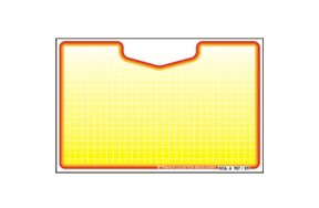 PRICE CARDS 114mm X 74mm (N.4 YELLOW-GREEN)